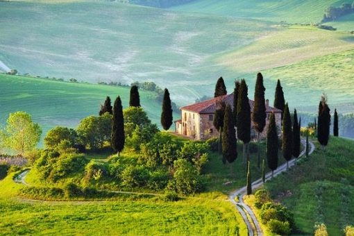 Beautiful scenery in Val D'Orcia in Tuscany