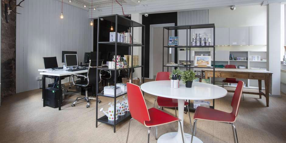 Flavours' stylish office in Edinburgh.