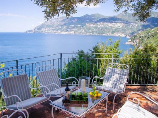 View of Amalfi from our holiday venue.