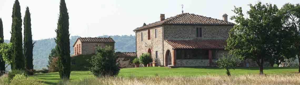 Our Italian villa overlooking the Tuscan countryside.