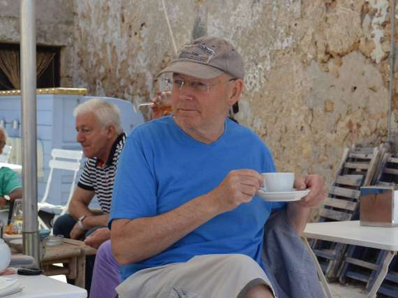 Michael Gahagan on a painting holiday in sicily