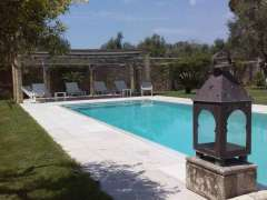 Outside swimming pool at our Puglia villa.
