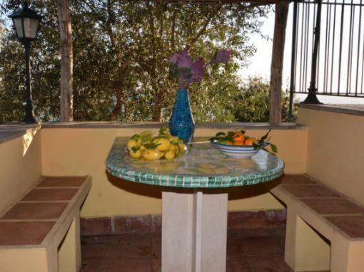 Outdoor terrace in our Amalfi venue.