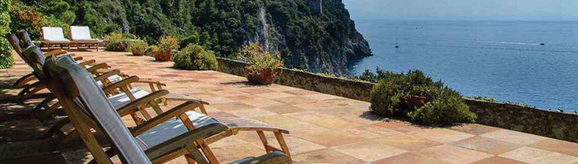 A view overlooking the Amalfi Coast from Flavours Pilates holidays villa.