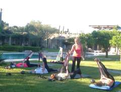 Pilates class under the sun in Puglia