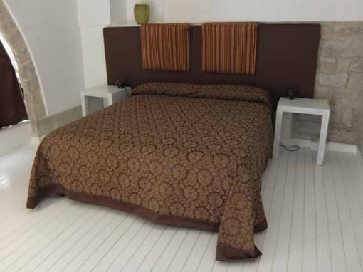 Luxurious double bed in Sicilian holiday villa
