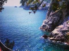 Scenic view of the stunning Amalfi coast