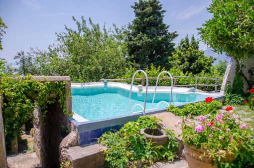 Swimming pool in our villa in Amalfi
