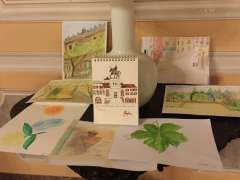 Watercolour paintings exhibited on art holiday in Venice